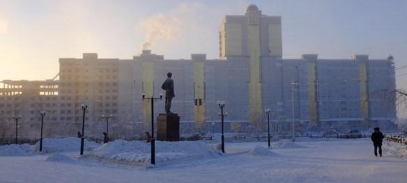 Yakutsk, Russia in winter.