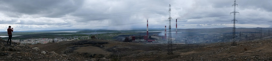 The mine in Nikel, Russia.