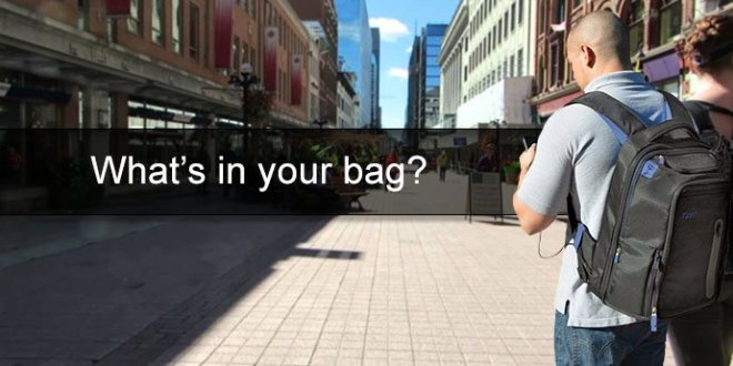 """What's in my bag """"Martin's Edition"""" of the mobile technology I take with me"""