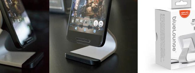 Milo from Bluelounge is a smartphone stand