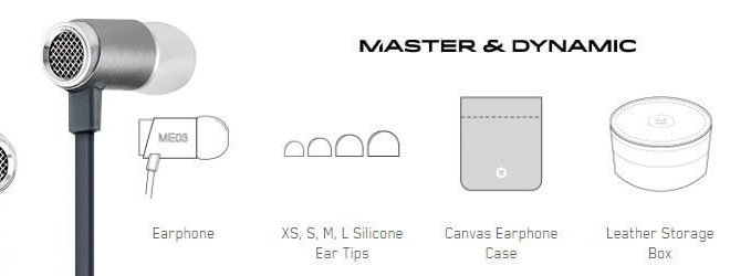 Master & Dynamic ME03 in-ear headphones