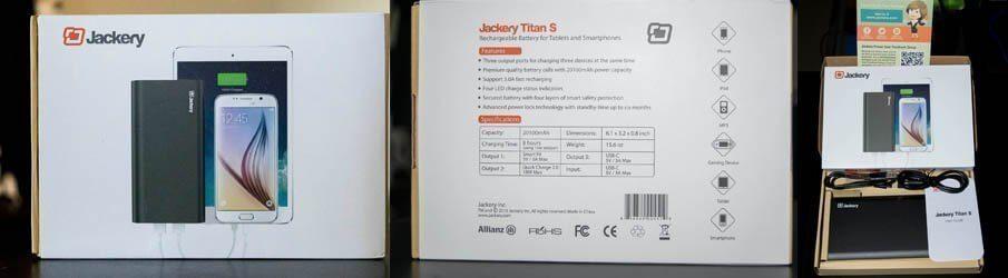 Jackery TITAN S QC 2.0, Fast Charge, USB-C