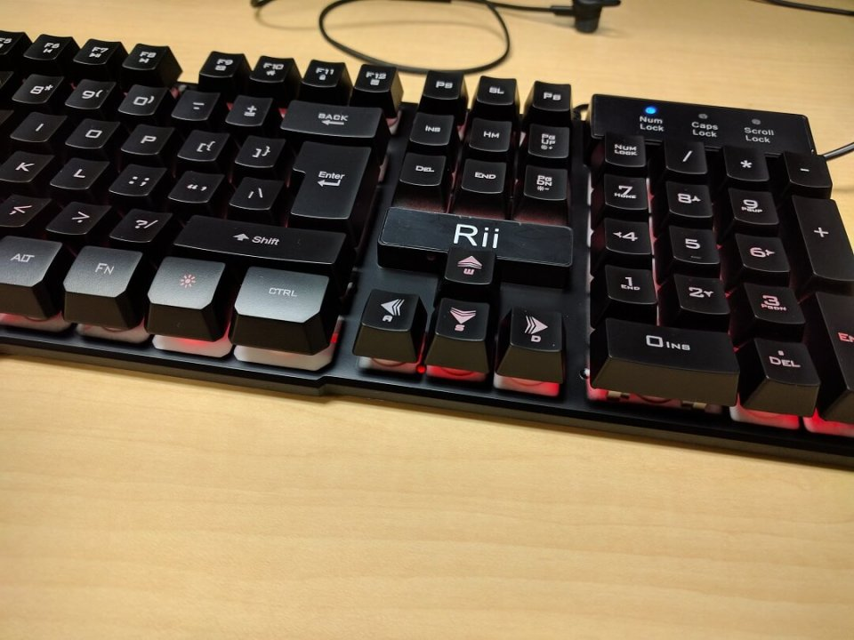 Rii K100 3-LED Gaming keyboard is cross between mechanical and membrane 2