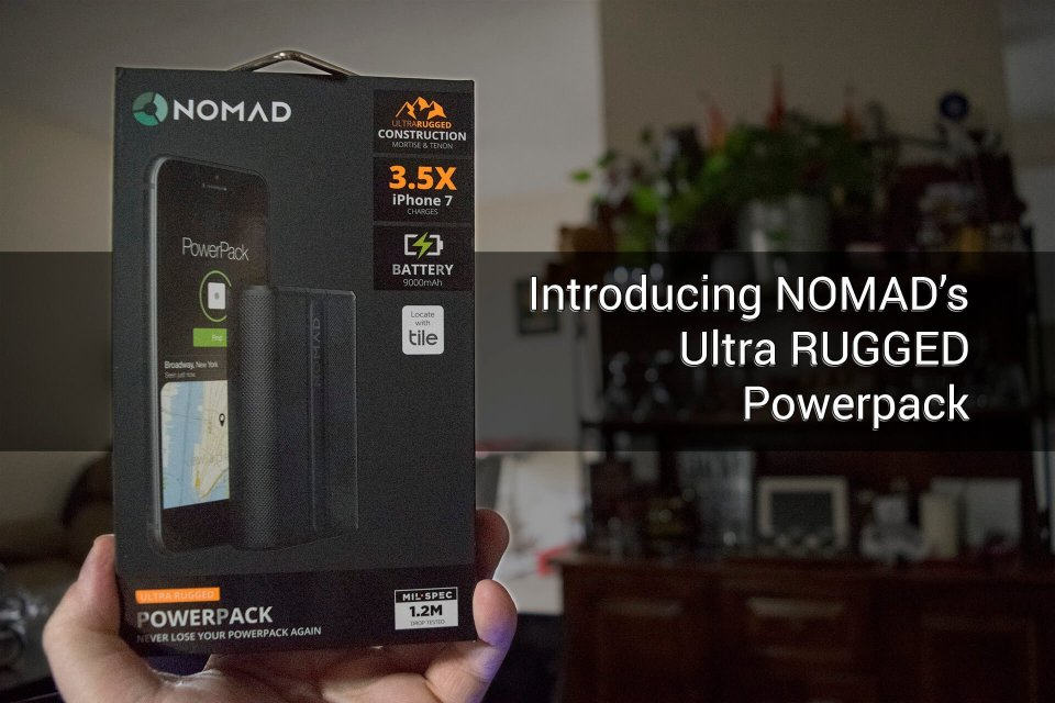 9000 mAh POWERPACK from NOMAD is ultra-rugged and ready for you! 2