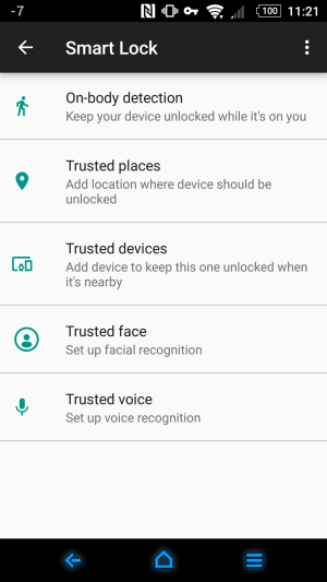 Android Smart Lock feature cryovex