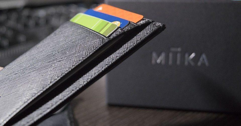 Miika RFID Minimalist slim wallet header