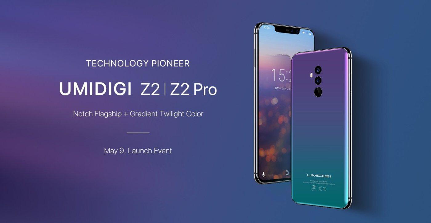 UMIDIGI Z2 & UMIDIGI Z2 Pro May 9th launch