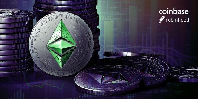 منصة Robinhood و Coinbase تتنافسان على جعل أسعار العملات الرقميةالمشفرة ترتفع