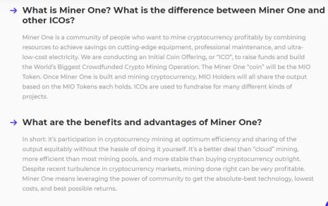 Miner One Info