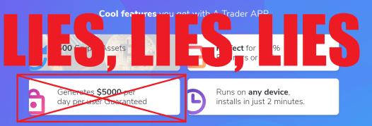 A Trader App Lies