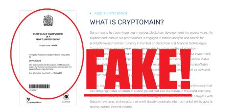 Cryptomain Scam
