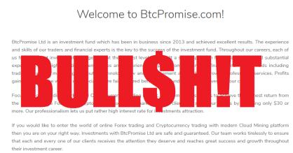 BTCPromise Scam Alert