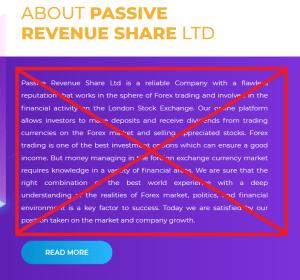 Passive Rev Share LTD Alert