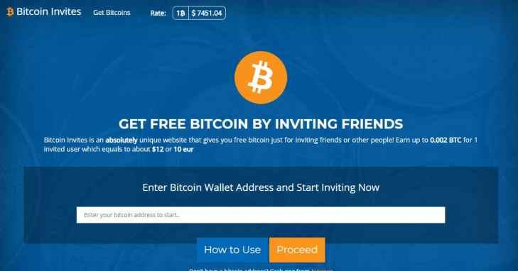 Bitcoin Invites