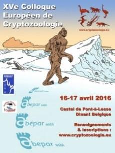 15e Colloque européen de Cryptozoologie le 16-17 avril 2016