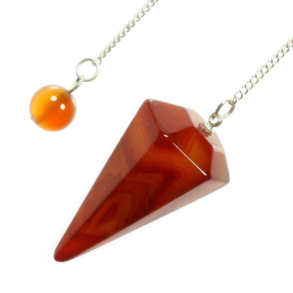 Carnelian Crystal Pendulum