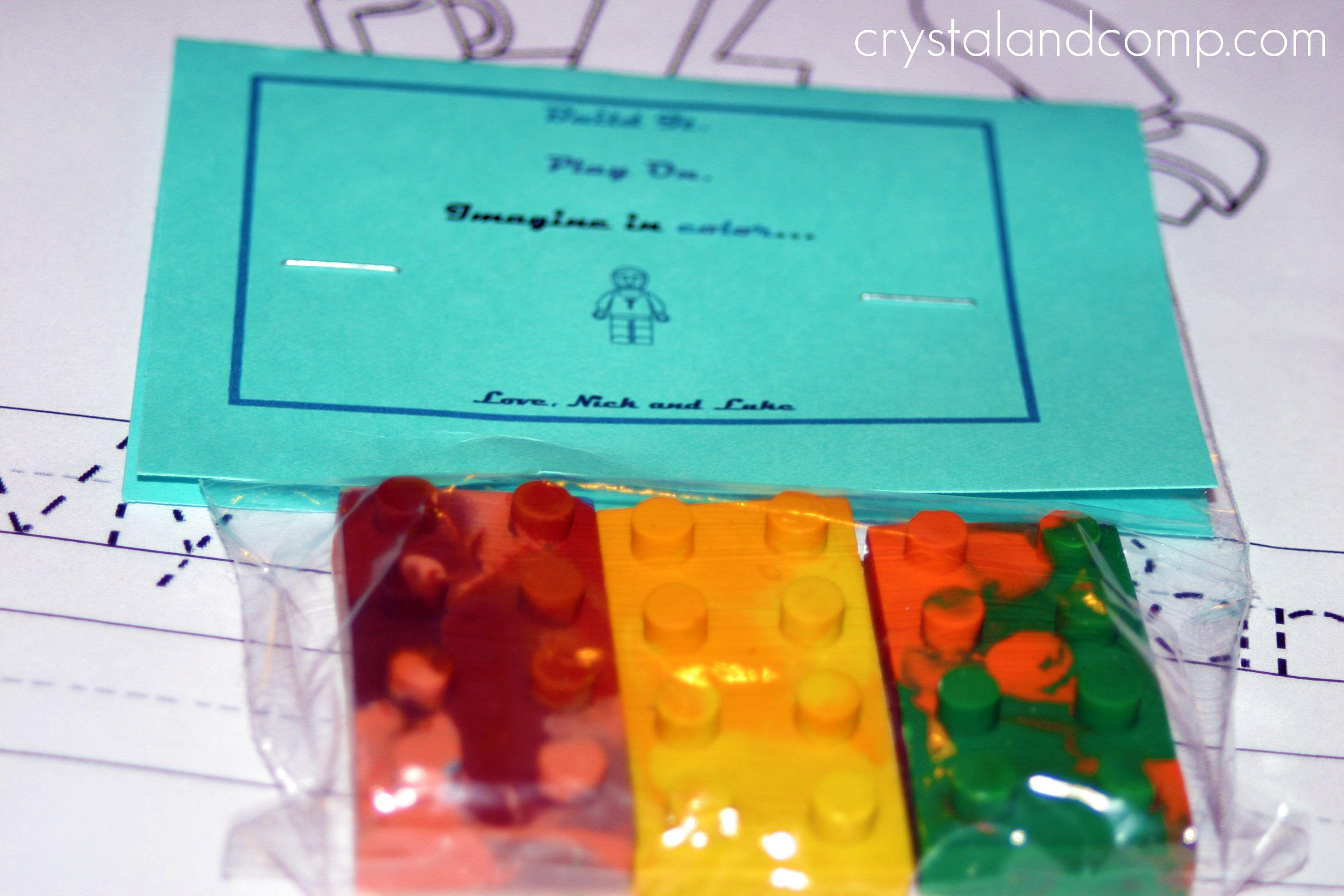 Lego Crayons A Birthday Party Favor Plus Free Printable