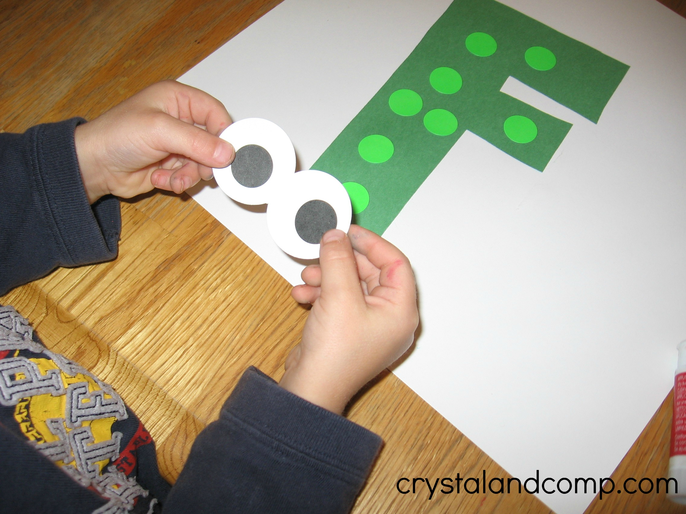 F Is For Frog Letter Of The Week Craft