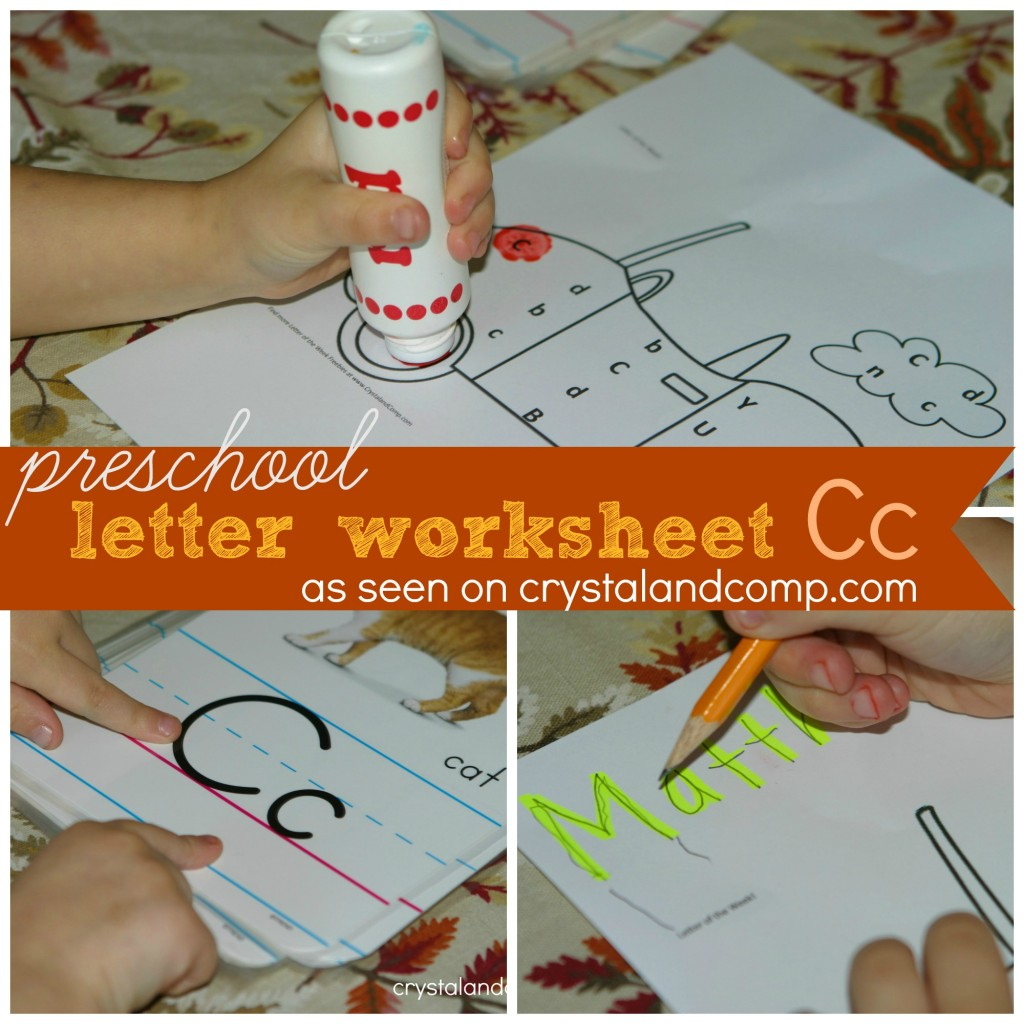 Preschool Letter Worksheets For C