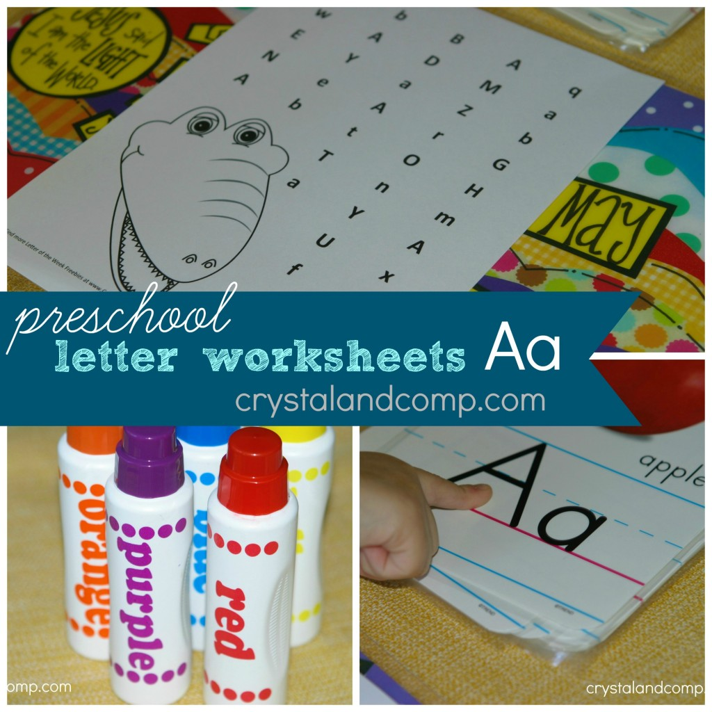 Preschool Letter Worksheets A Is For Alligator
