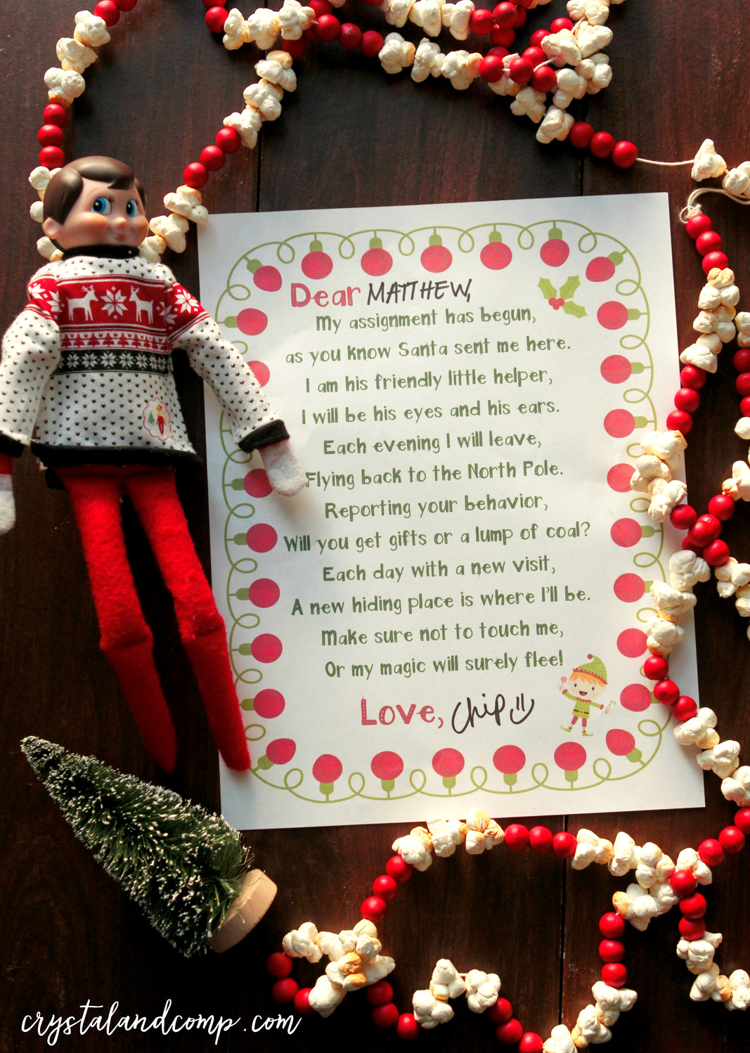 Elf On The Shelf Printables Welcome Letter