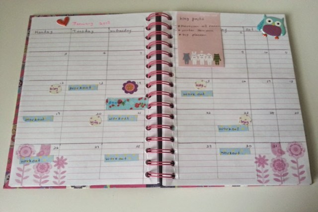 monthly planner, planner decoration