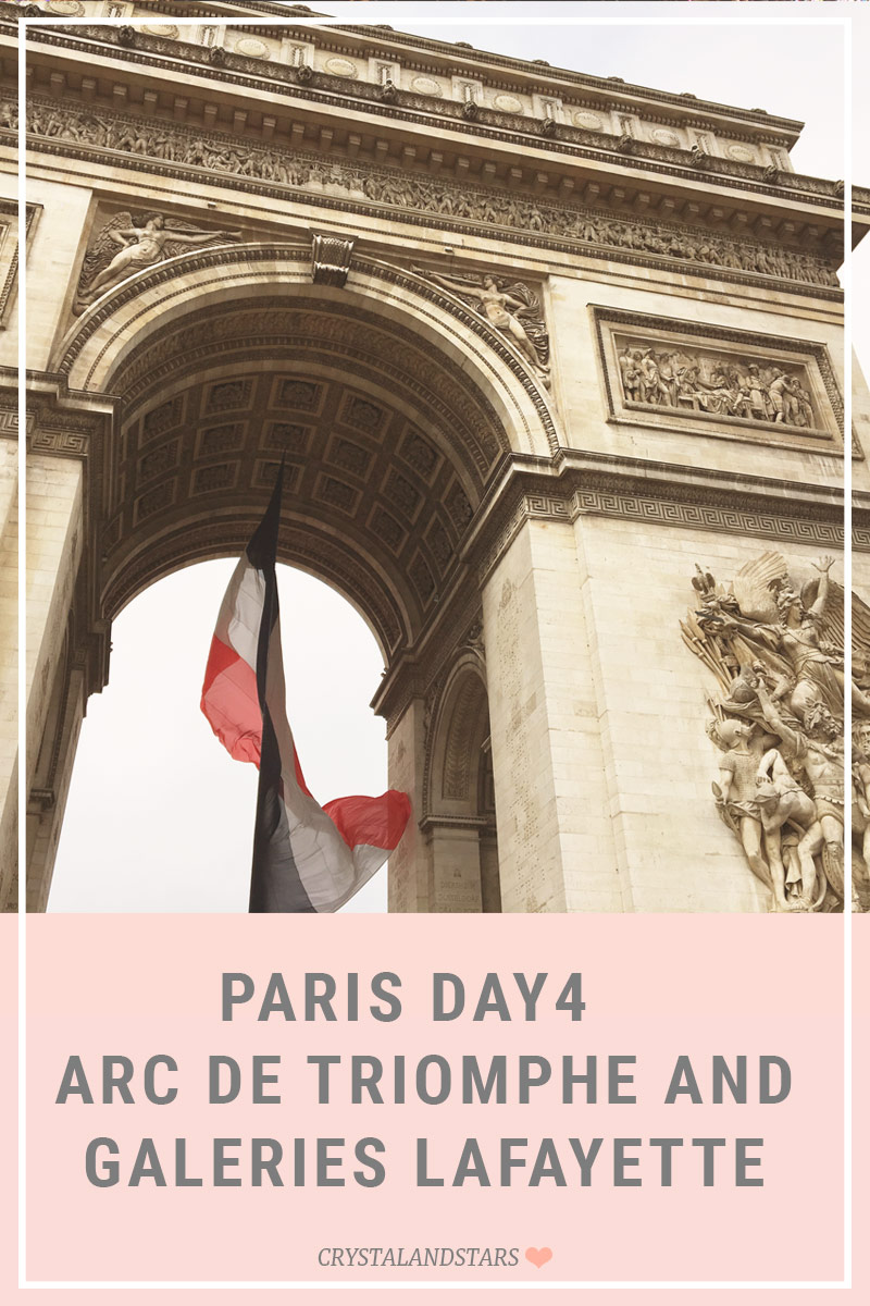 PARIS DAY 4 – ARC DE TRIOMPHE AND GALERIES LAFAYETTE