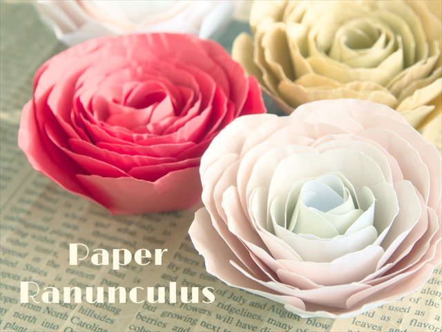 【紙の花】テンプレート付きで簡単ラナンキュラスのペーパーフラワー