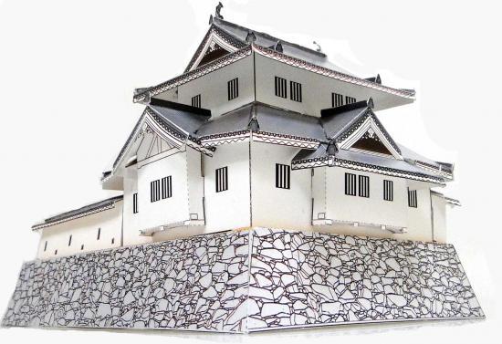 甲府城跡・稲荷櫓(いなりやぐら)のペーパークラフトが無料ダウンロード