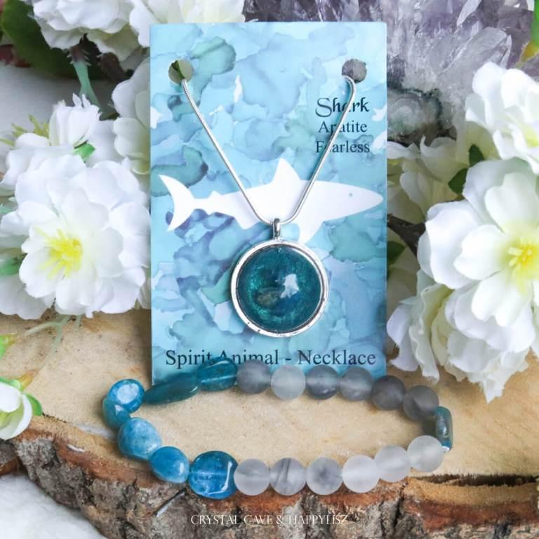 Haai sieraad ketting armband - Crystal Cave