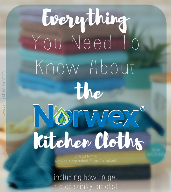Everything you've ever needed to know about the Norwex Kitchen Cloths is in this post! Why they're different, their special features, PLUS, how to deep clean them to get rid of smells!