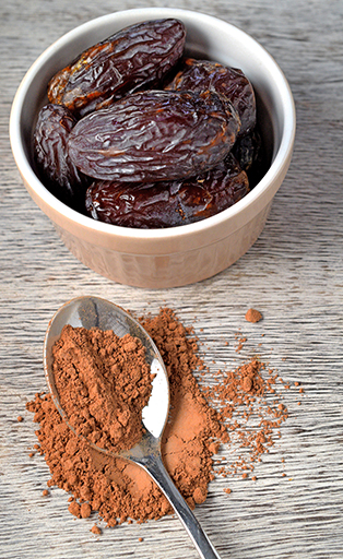 dates and cacao