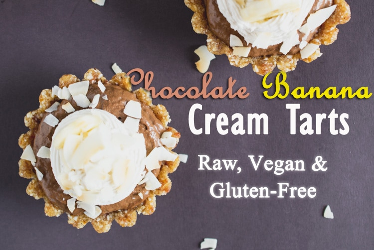 Chocolate Banana Cream Tarts