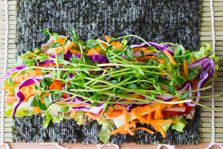 Sunflower Seed Pate Nori Rolls