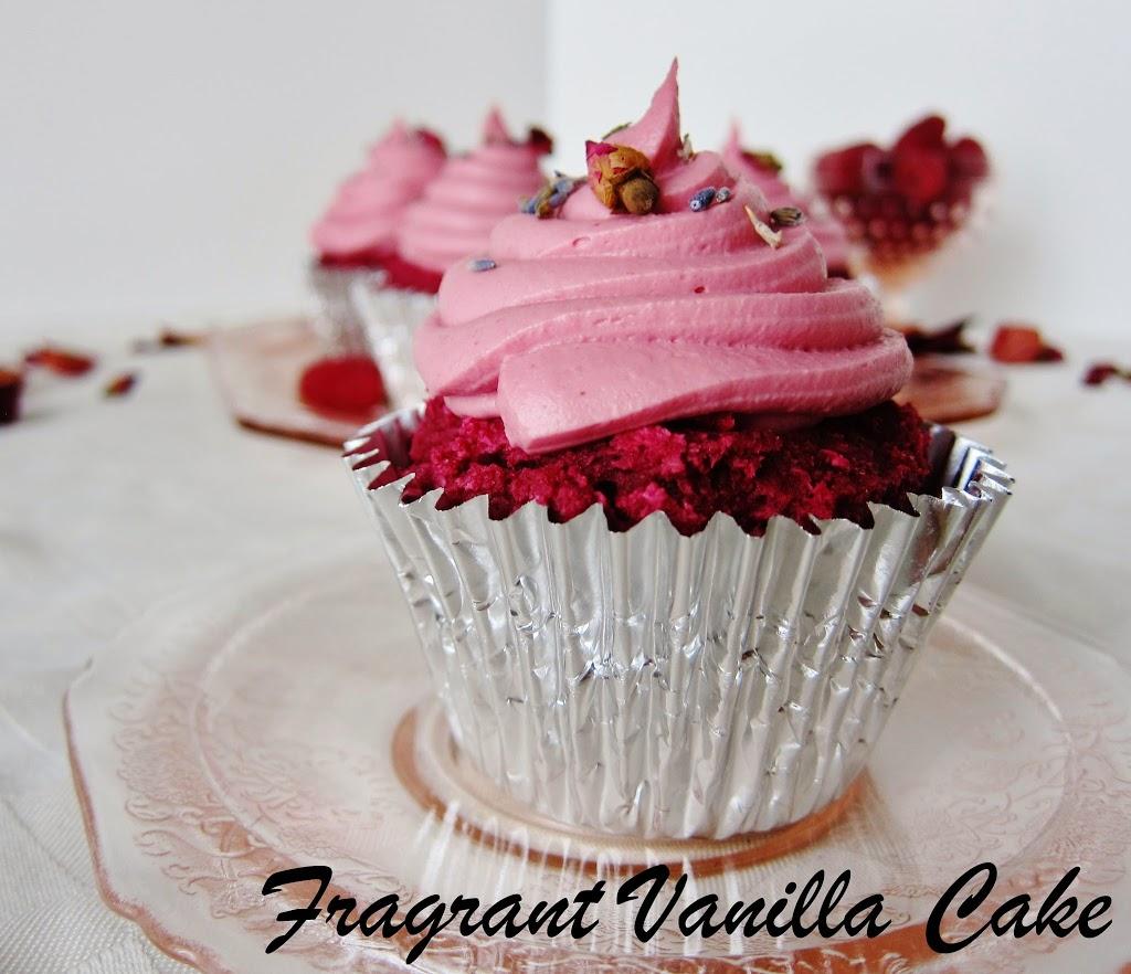 Raw pink velvet cupcakes
