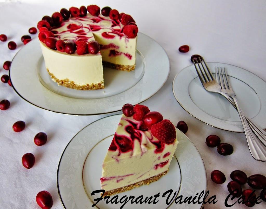 raw cranberry raspberry white chocolate cake