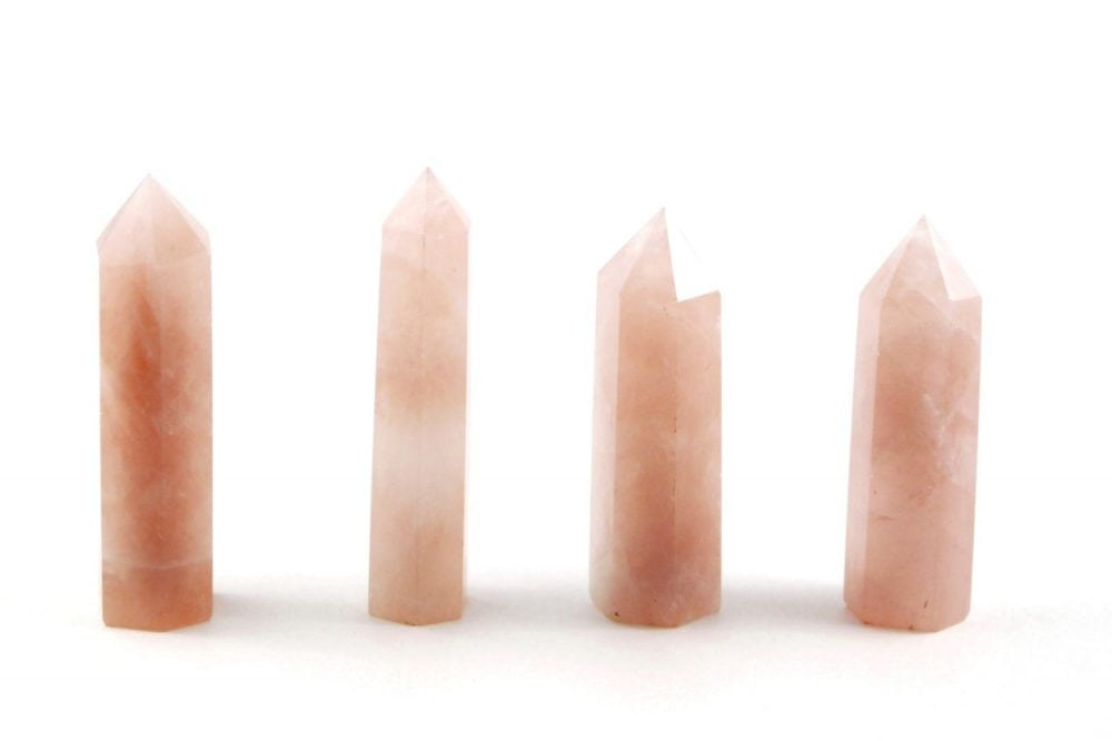 Crystal Dreams Rose Quartz Crystal Prisms / Points