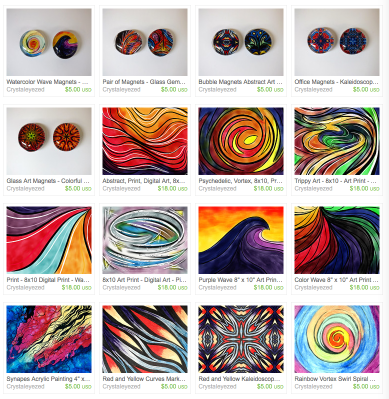 Crystalized Fine Arts Etsy Store Update