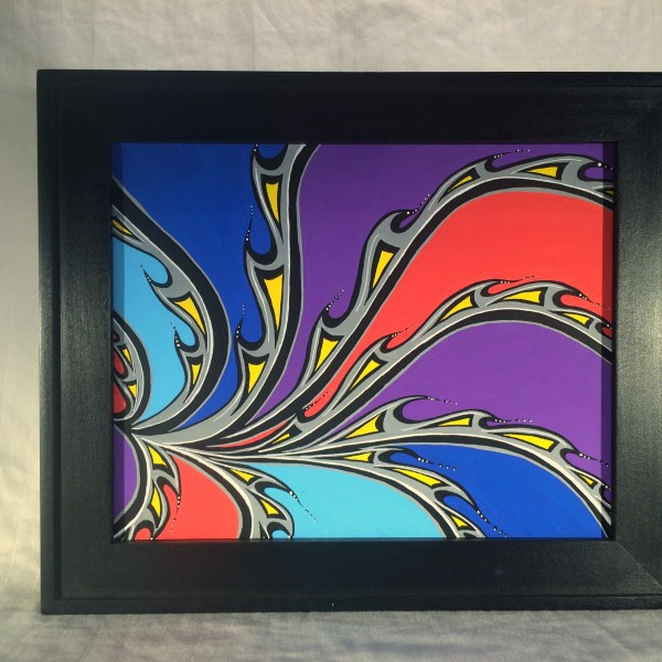 Swirls_Acrylic_on_Canvas_-_8x10_Painting_in_Black_Frame_by_Mark_Bray - 1