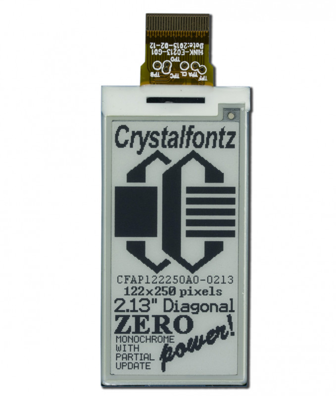 122x250 ePaper Display - www.crystalfontz.com