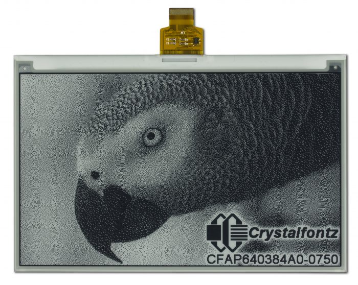 "Crystalfontz 7.5"" Black and White ePaper"