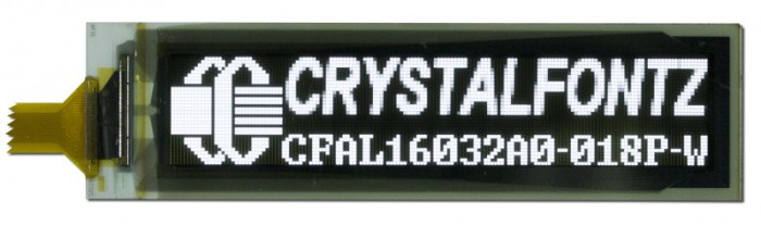 Crystalfontz 160x32 Flexible OLED Display