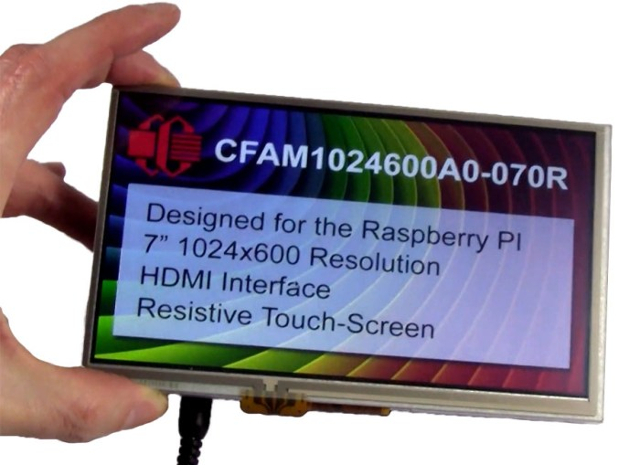 Crystalfontz HDMI Raspberry Pi Display