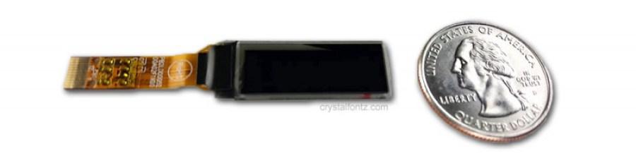 OLED Size Comparison - www.crystalfontz.com