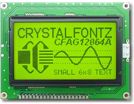 Crystalfontz Positive Mode LCD - CFAG 128x64 Graphic LCD Display