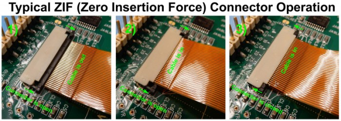 ZIF Connector Operation - www.crystalfontz.com