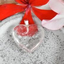 Hänge hjärta bergkristall