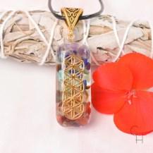 Halsband chakra orgonit 4