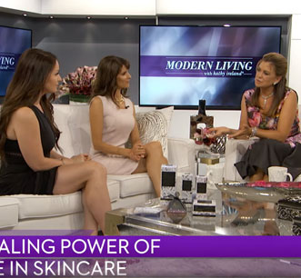 Andrea Barone Sazwan and Ramona Manola on the Kathy Ireland Show