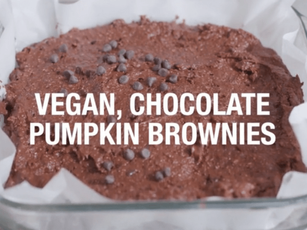 Vegan, chocolate pumpkin brownies